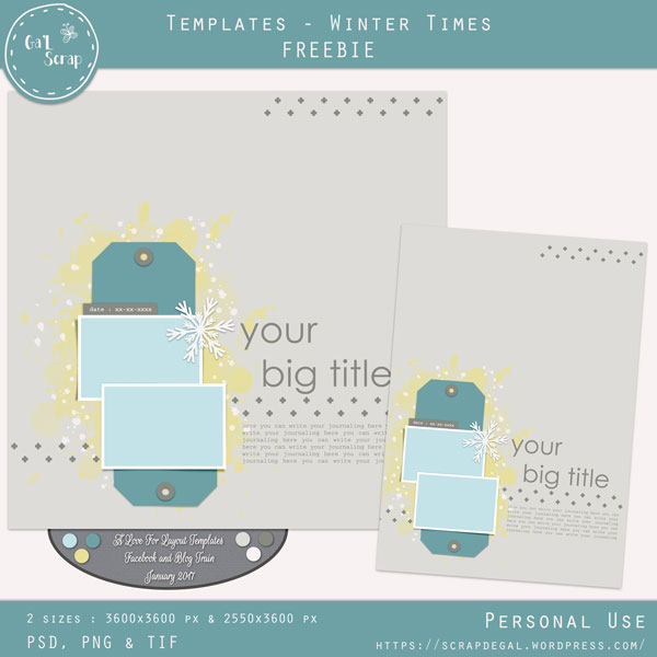 A love for layout templates | January 2017 Blog train Gal-winter-times-pv